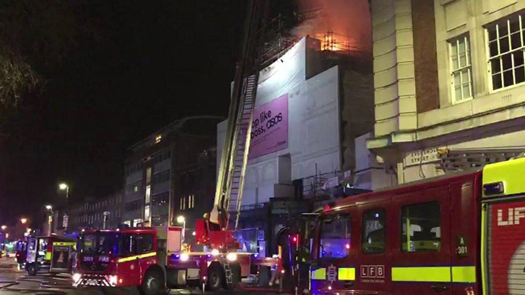 Koko Camden: fire engulfs famed music venue