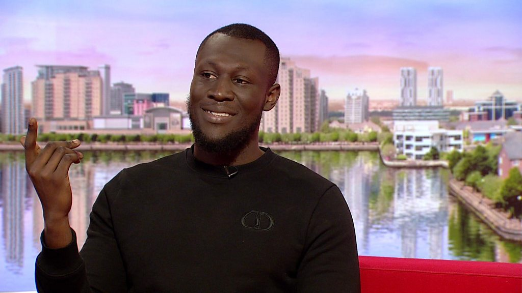 Stormzy visits BBC Breakfast in Slippers