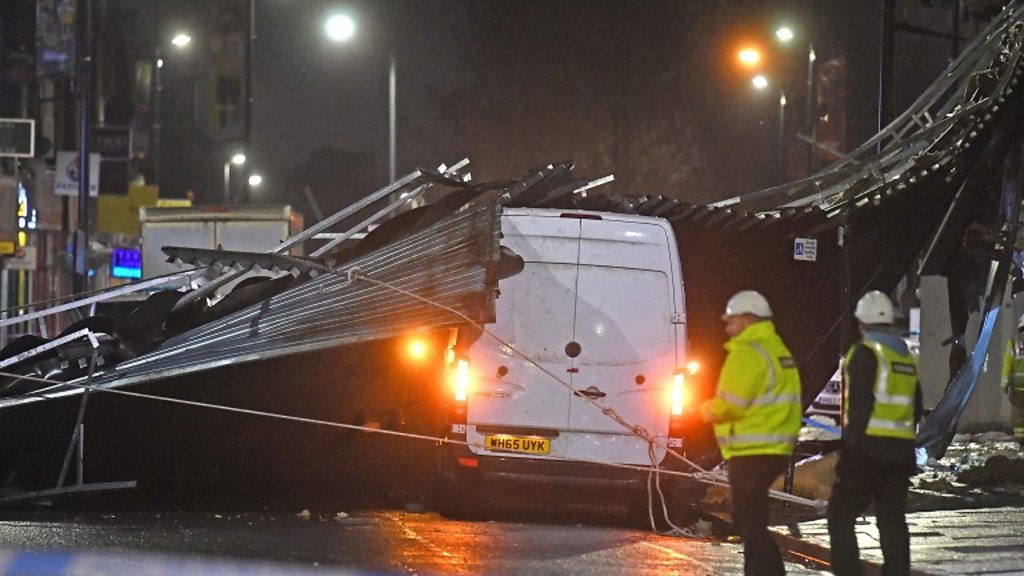 Stormy weather in England causes damage