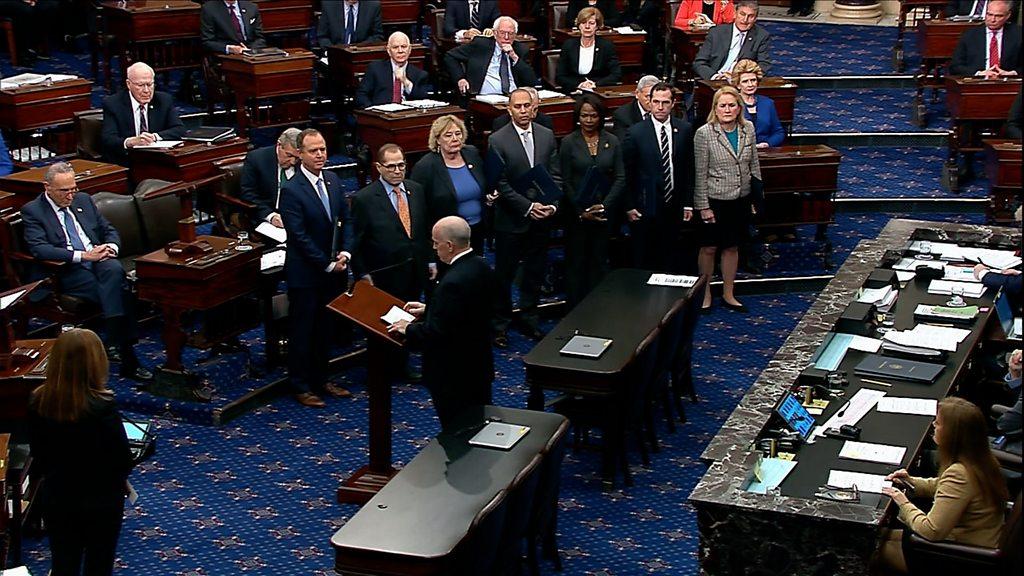 Trump indictment: the senators sworn in for historical study