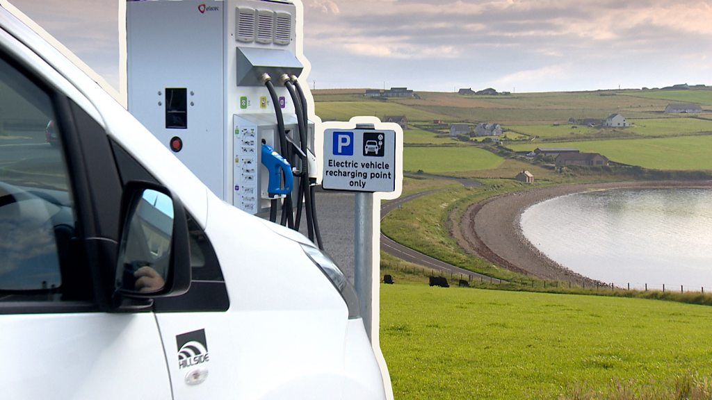 Is Orkney  in the fast lane  on electric vehicles?