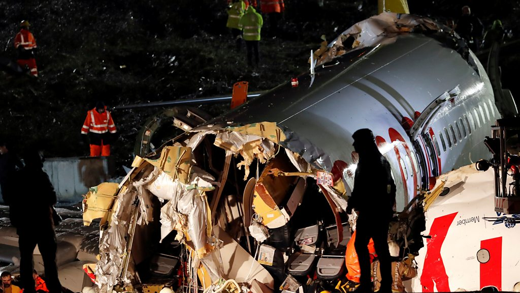 Three dead, 180 hurt as plane skids off runway