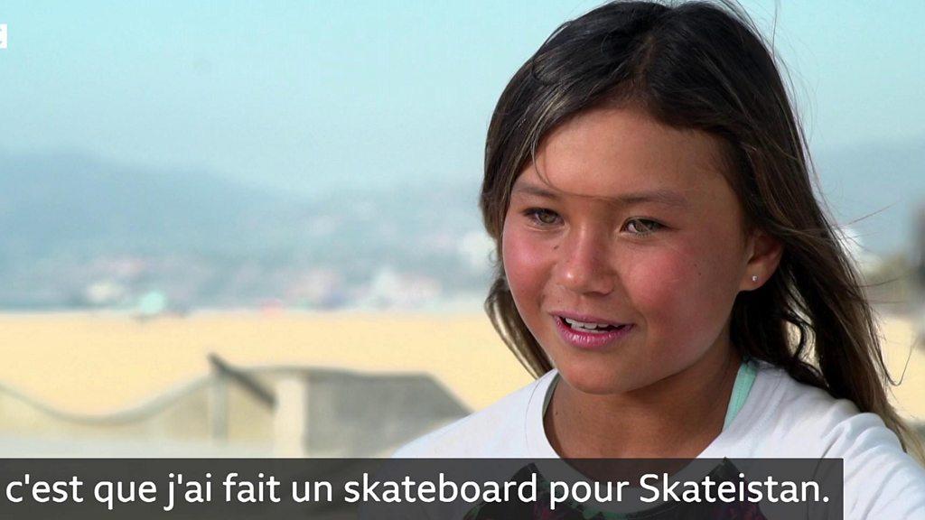 Skateboard Une Fillette De 11 Ans Prete Pour Les Jeux Olympiques Bbc News Afrique
