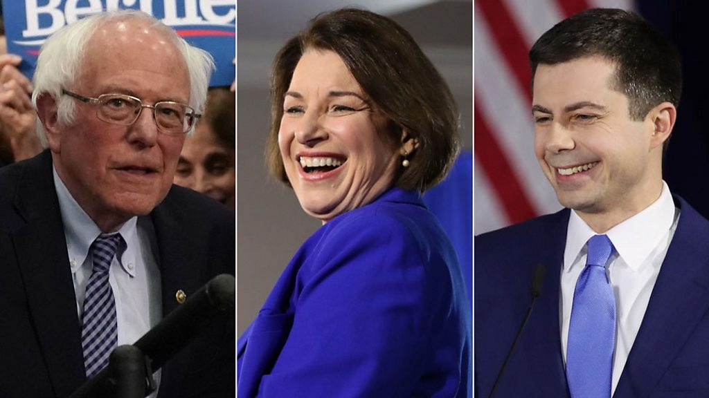 Bernie Sanders wins the New Hampshire primary ahead of Pete Buttigieg