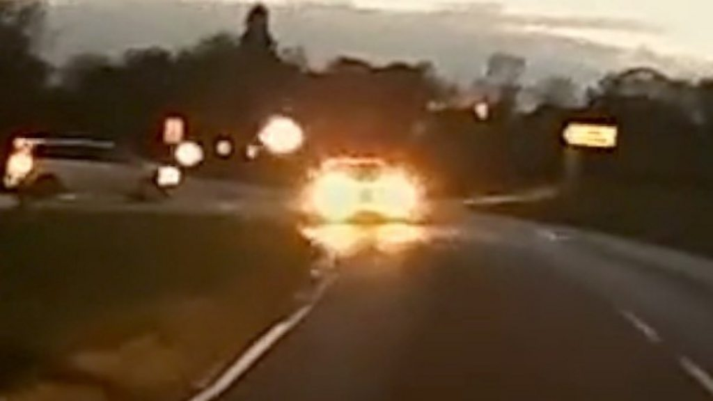 Harry Dunn: the car seen on the wrong side of the road in the vicinity of the RAF base