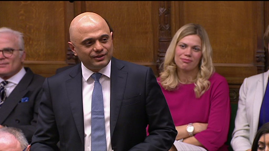 Sajid Javid's polite words with a sting