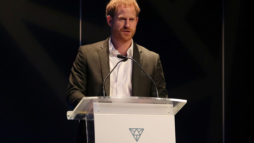'Just call me Harry' prince tells conference