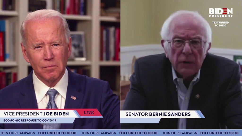 US election 2020: Bernie Sanders supports ex-rival Joe Biden for President