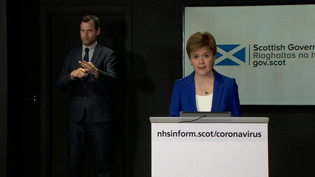 Sturgeon: Virus lockdown to continue for 'at least' three weeks
