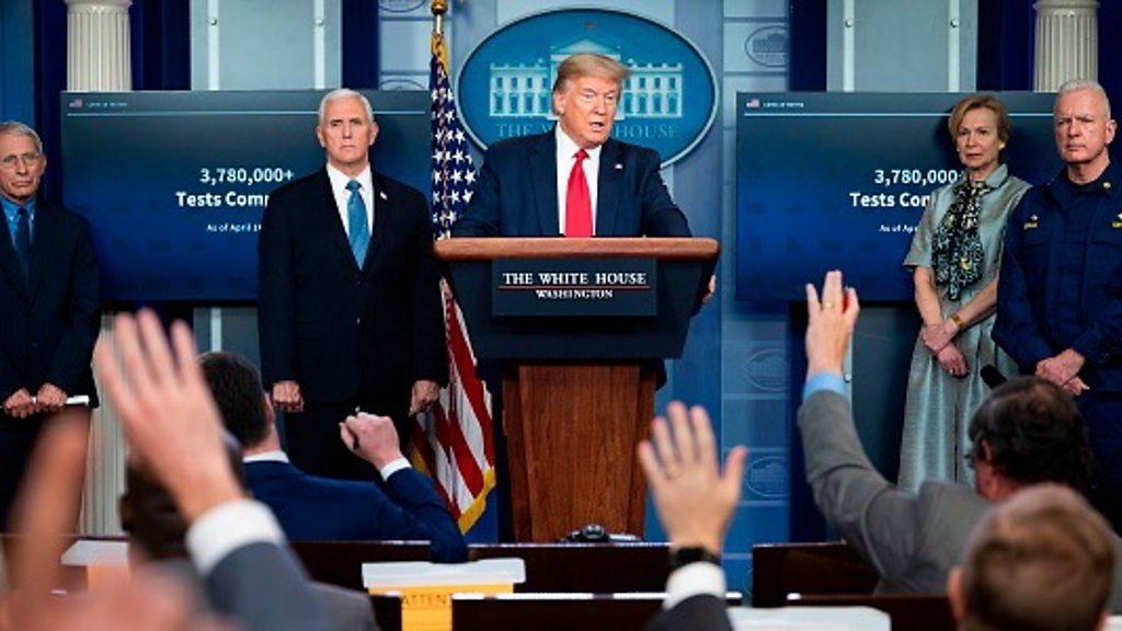 Coronavirus: President Trump defends tweets against the U. S. -States  have lock