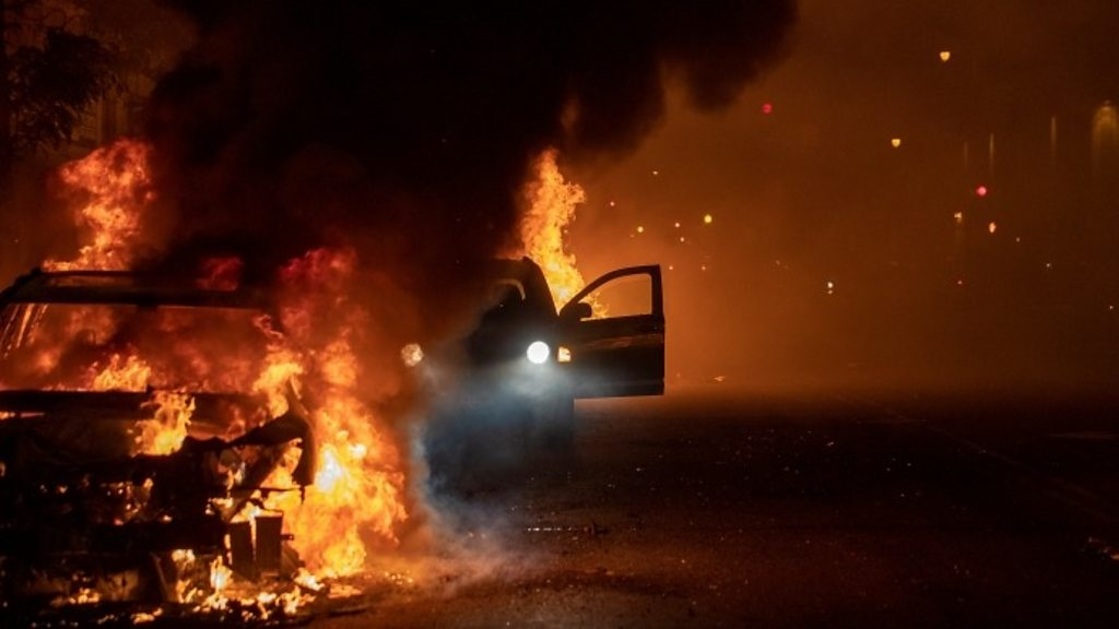 George Floyd death: Minnesota governor decries violent protests - bbc