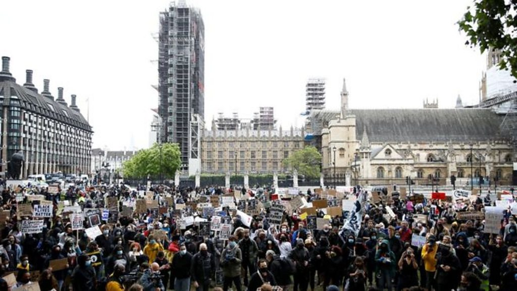 George Floyd death: Thousands turn out for UK anti-racism protests