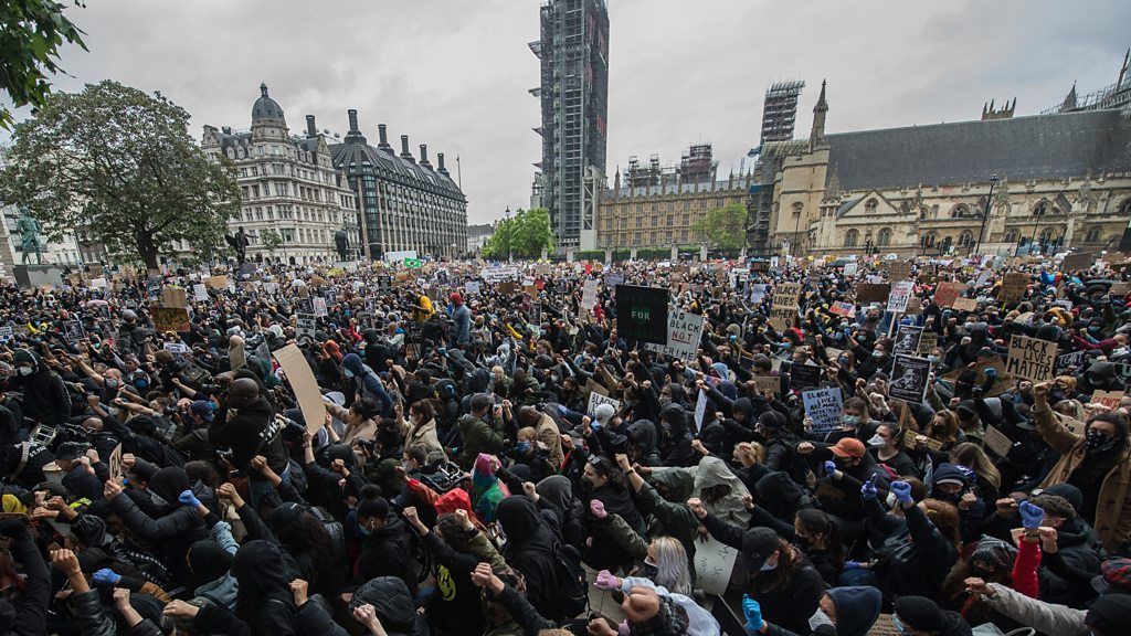 Large anti-racism protests across UK