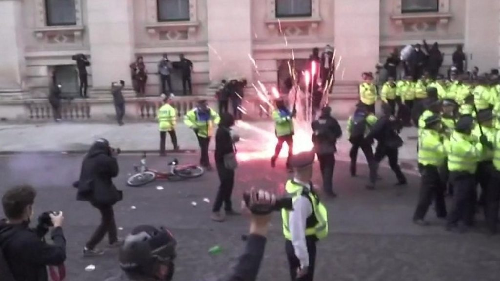 Boris Johnson: Anti-racism protests infiltrated by thuggery