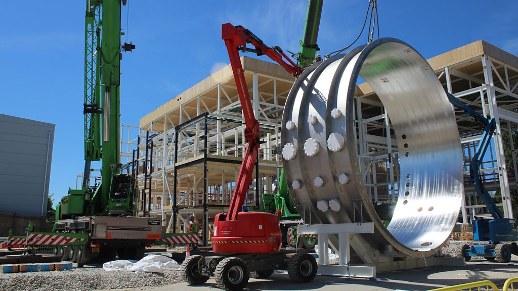 Giant space chamber installed in Oxfordshire