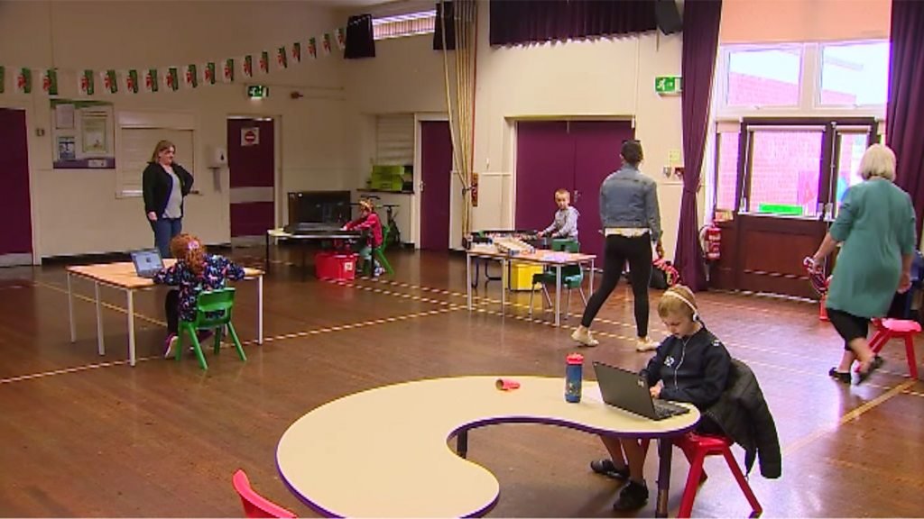 Pupils return to school after three months