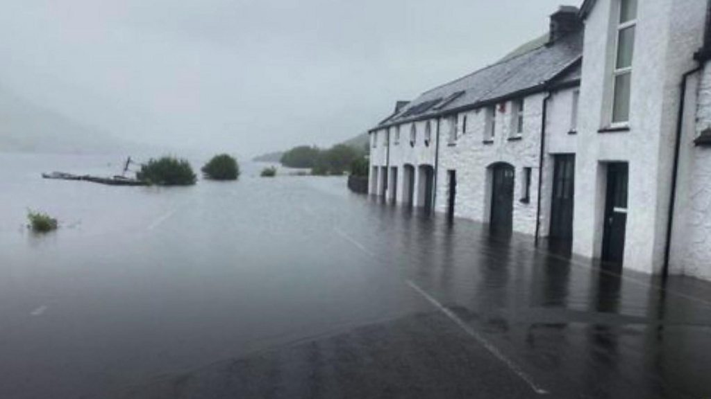 Historic hotel hit by flooding after heavy rain