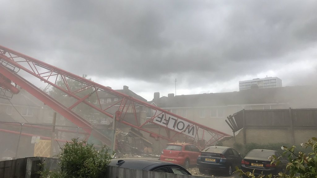 Bow crane collapse: One missing and four injured in crane collapse