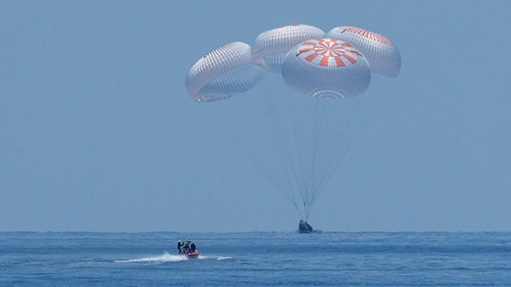 Nasa SpaceX crew return: Dragon capsule splashes down - BBC News