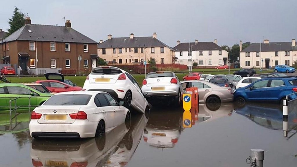 Torrential rain and thunderstorms bring flooding and disruption
