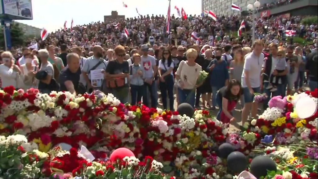 Belarus: Thousands attend protester's funeral amid unrest