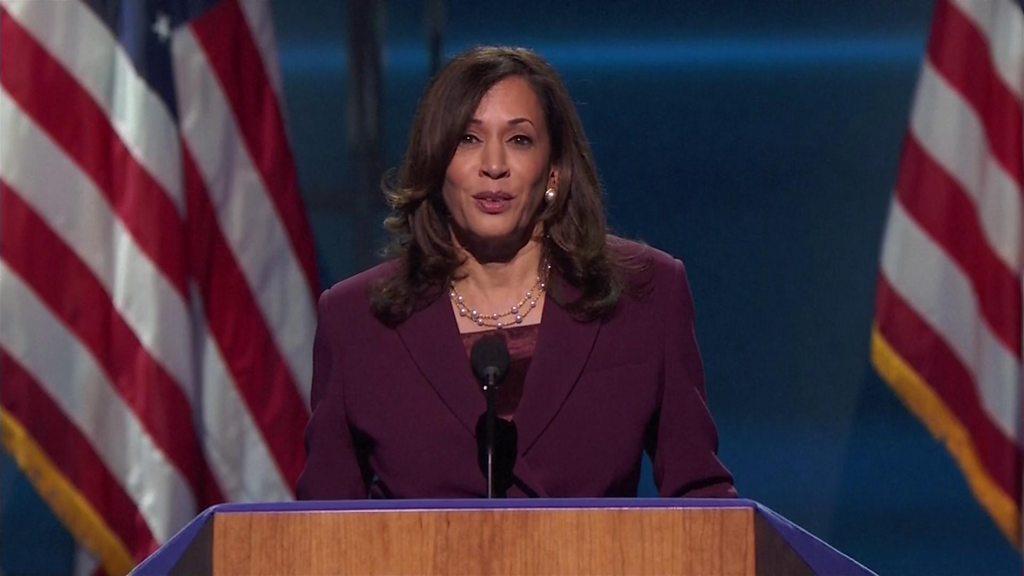 DNC 2020: Kamala Harris blasts Trump 'failure of leadership'