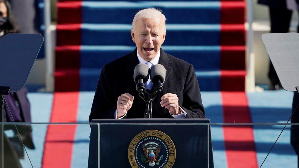 Joe Biden inauguration speech today: Full text of wetin di US 46th president tok dey here - BBC News Pidgin