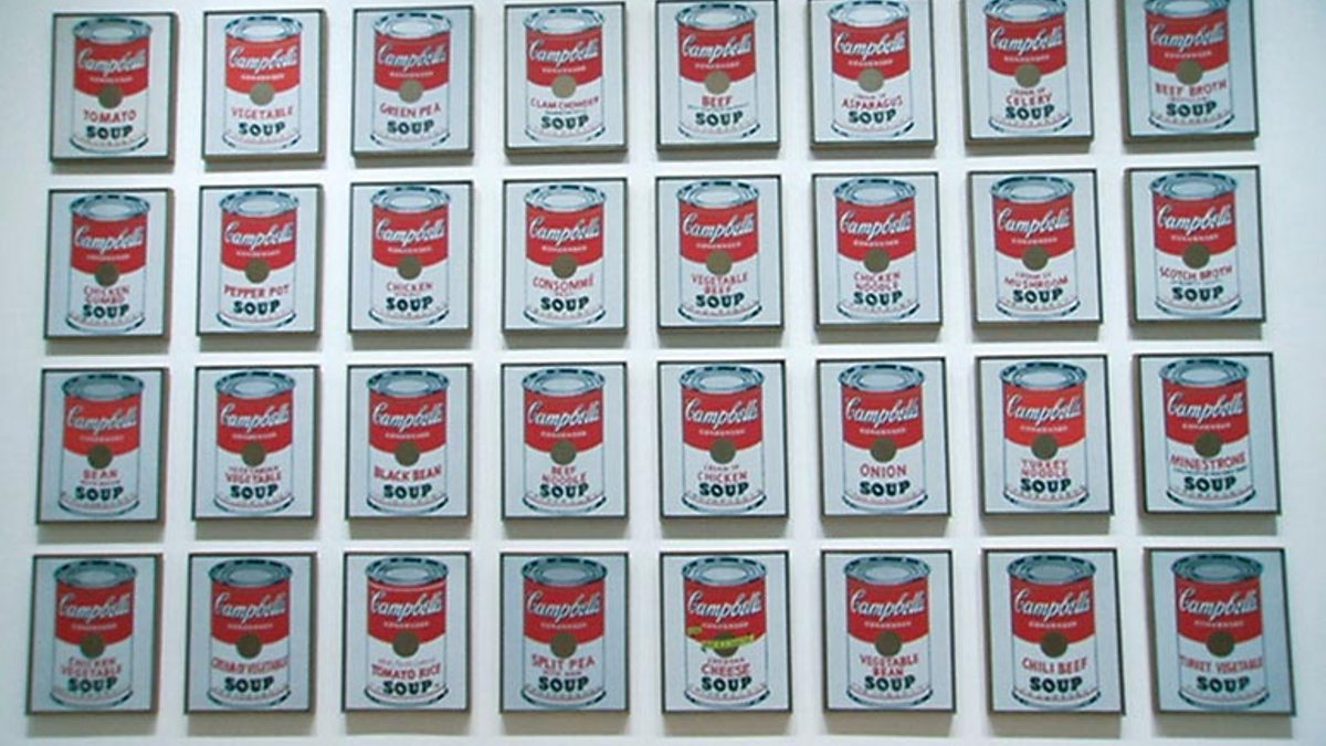 an analysis of andy warhols 32 campbell soup cans When warhol first exhibited campbell's soup cans, in 1962, each of the thirty-two canvases rested on a shelf mounted on the wall, like groceries in a store the number of paintings corresponds to the varieties of soup then sold by the campbell soup company.