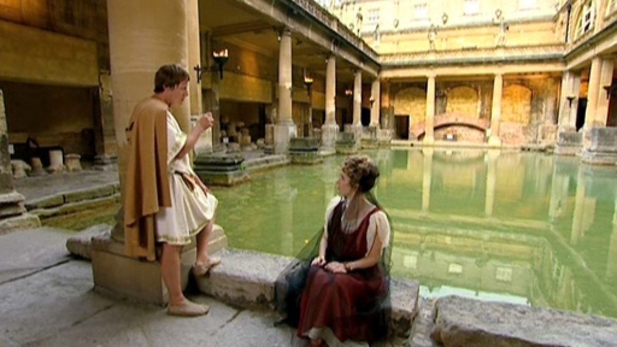 Bbc two primary history romans in britain roman for Bathing images