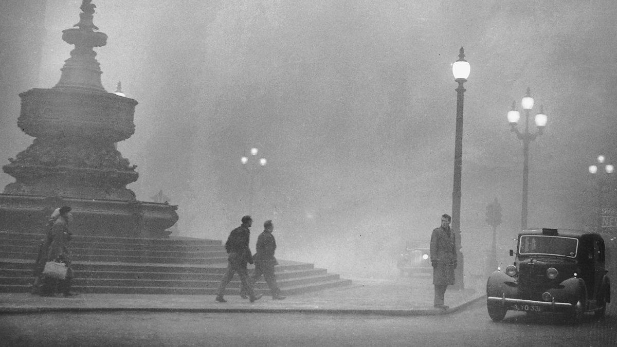 Smog London 1952 Churchill