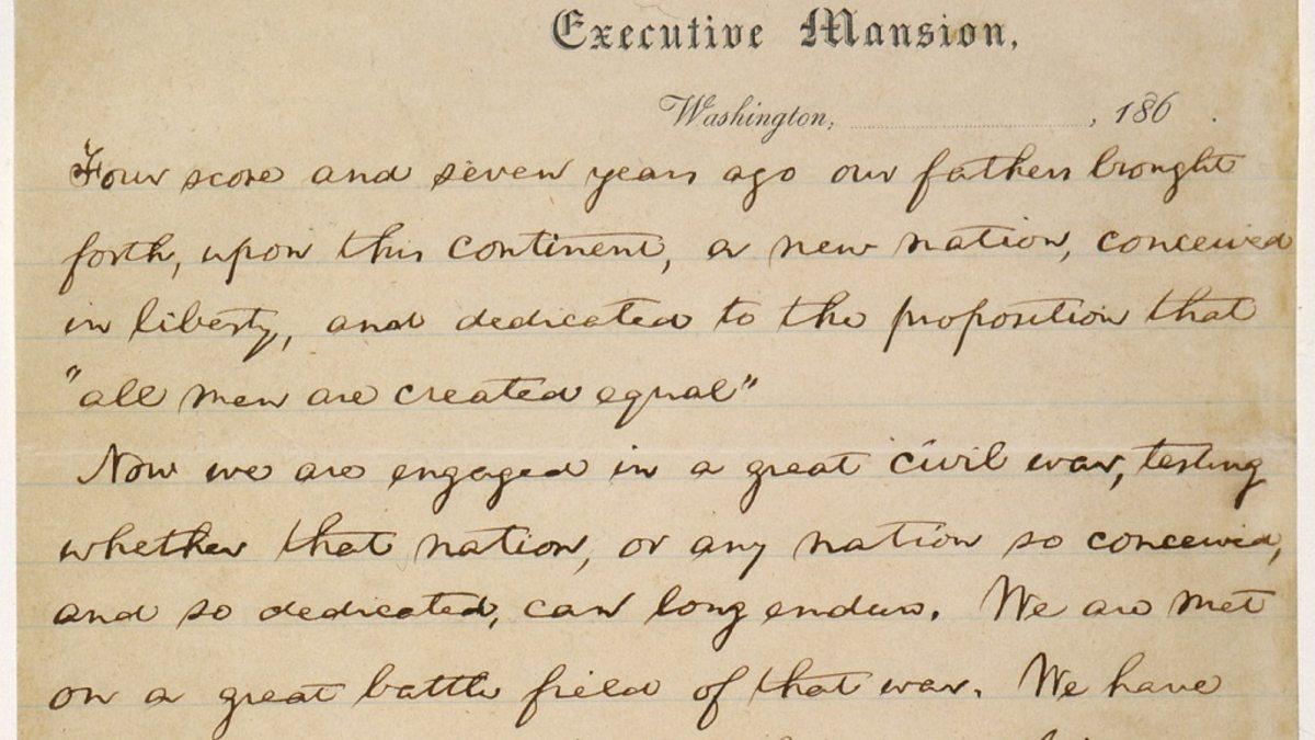 thesis statement on gettysburg address