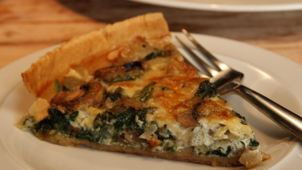 Bbc One Operation Hospital Food With James Martin Spinach And Mushroom Quiche