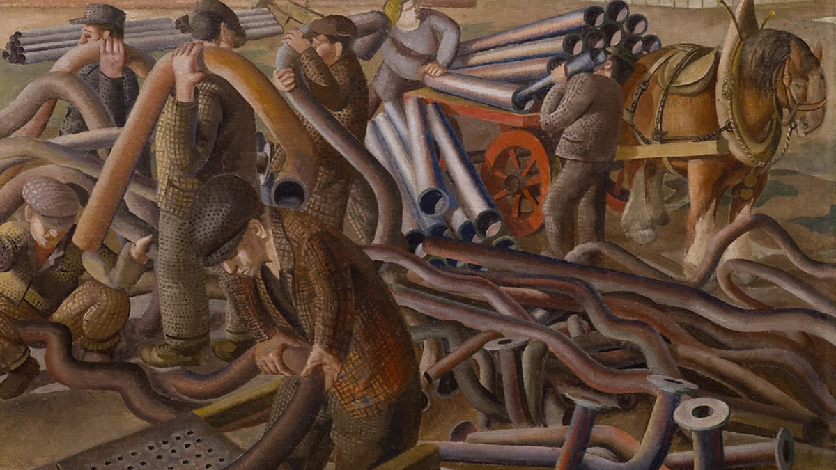BBC Two - Stanley Spencer's 'Plumbers' (detail) - Stanley ...