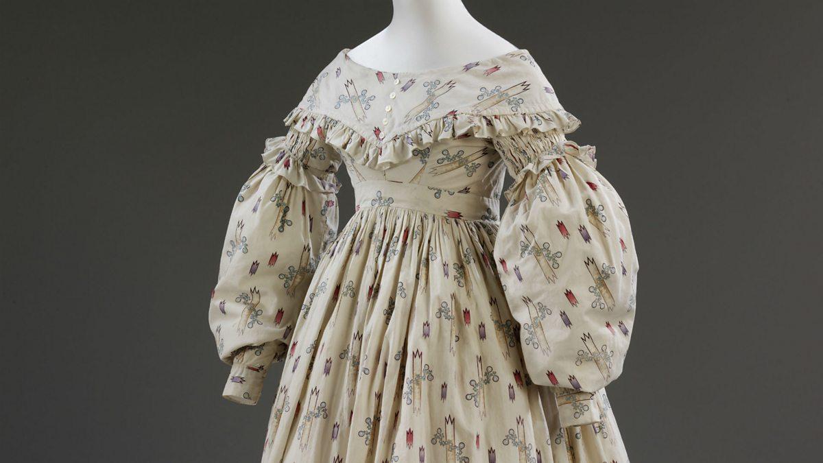 Cotton Wedding Gown: Cotton Wedding Dress, 1841.