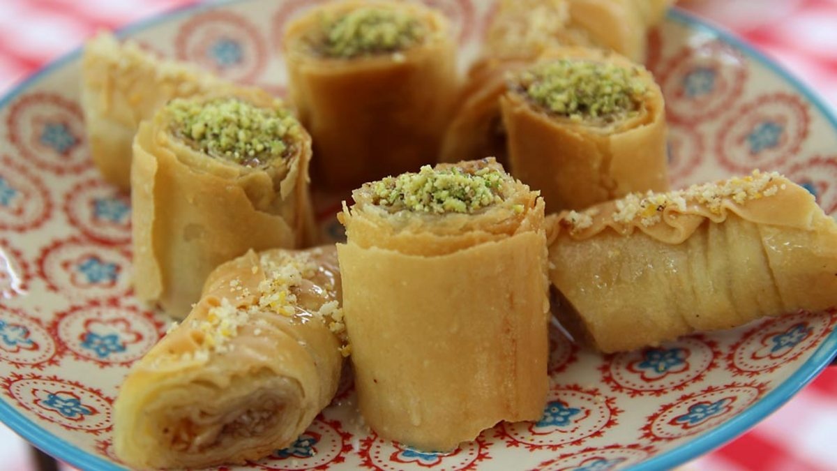 BBC One - Richard's Rose & Pistachio Baklava and Walnut ...