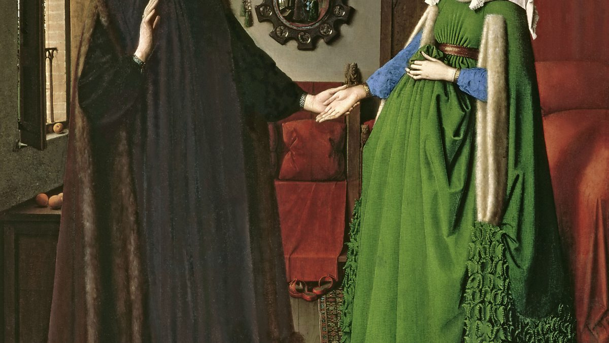 arnolfini wedding essay Van eyck - arnolfini and his bride essays giovanni arnolfini and his bride is a piece that has a great deal of symbolism along with legal function done in 1434, it was done with oil on wood and is actually only 2.