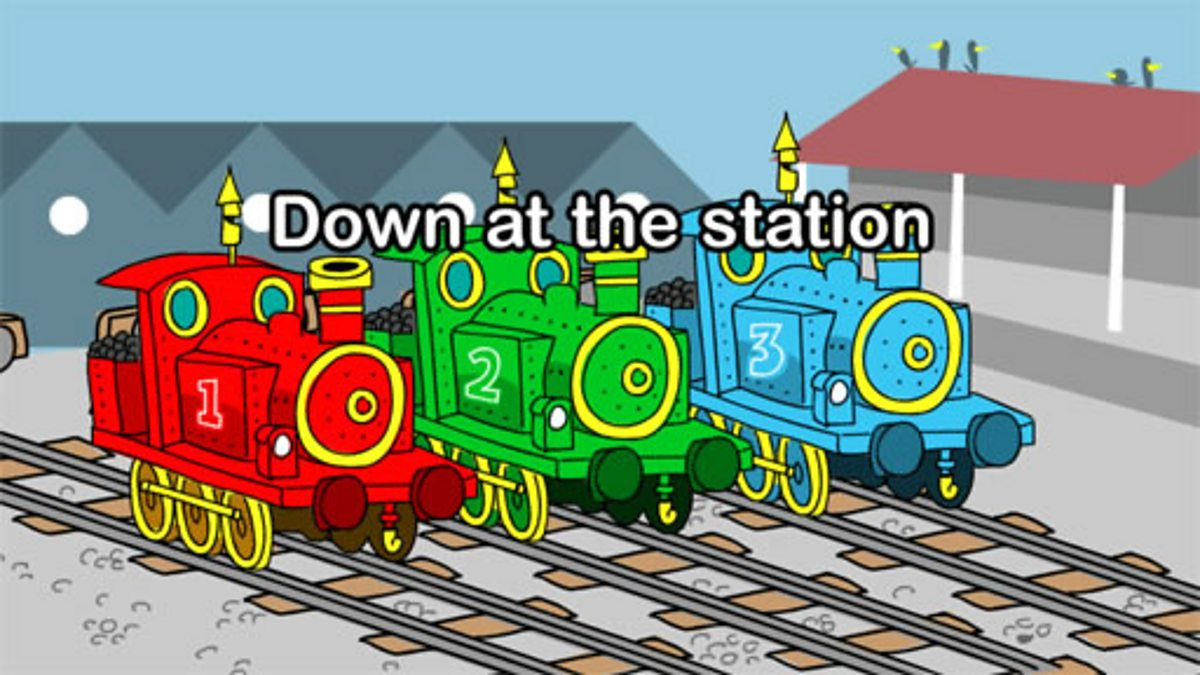 School Radio - Nursery songs and rhymes, Down at the station