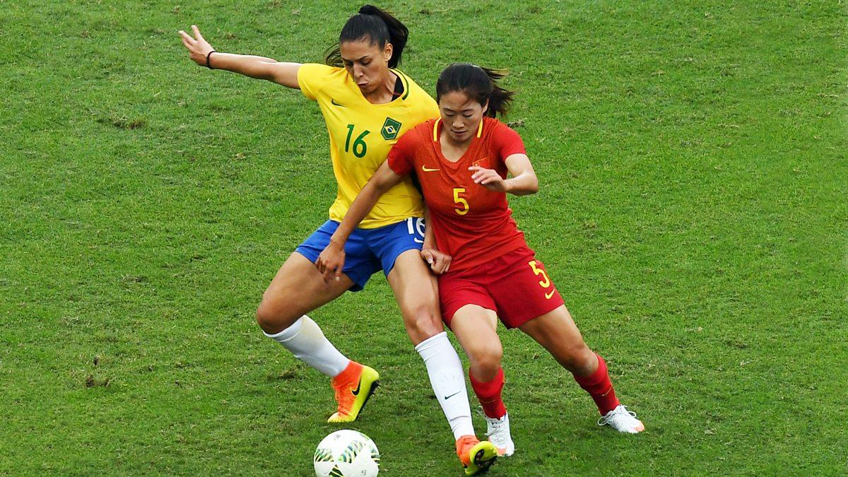 BBC Sport - Olympic Football, 2016, Brazil v China - Women ...