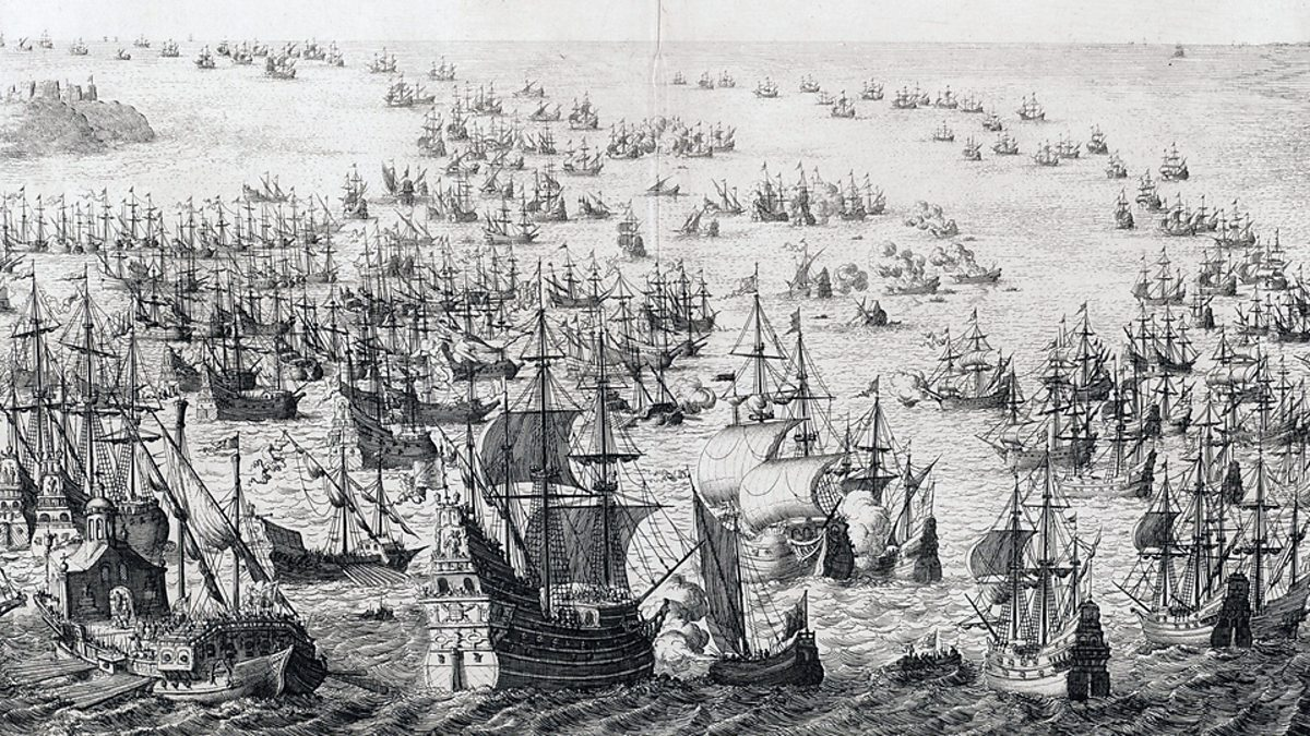 spanish armada The spanish armada was a fleet of 130 spanish ships that left lisbon in 1588 to invade england philip ii, the spanish monarch wanted to overthrow queen elizabeth i, and with the support of the pope (via 180 priests on board the ships), and approximately 30,000 troops, they intended to convert the english back to the roman church.