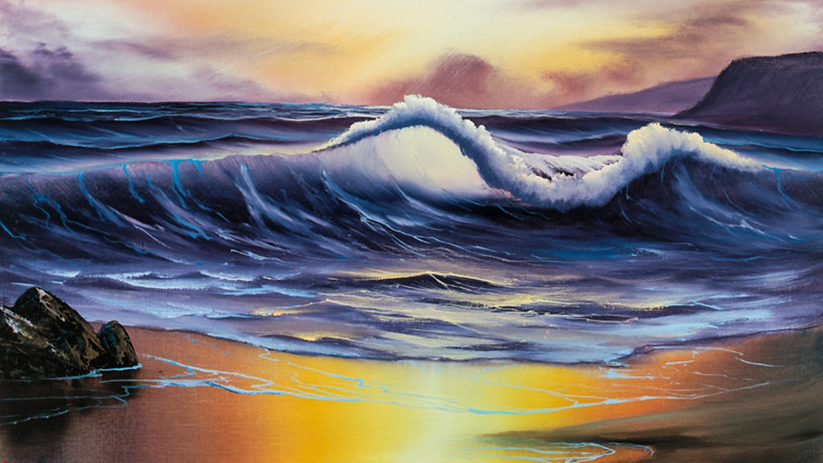 Bbc Iplayer The Joy Of Painting Series 1 7 Ocean Sunset