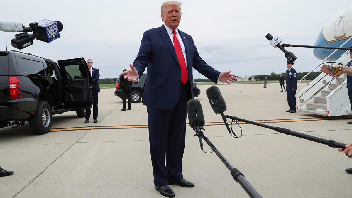 President Trump's controversial visit to Kenosha thumbnail