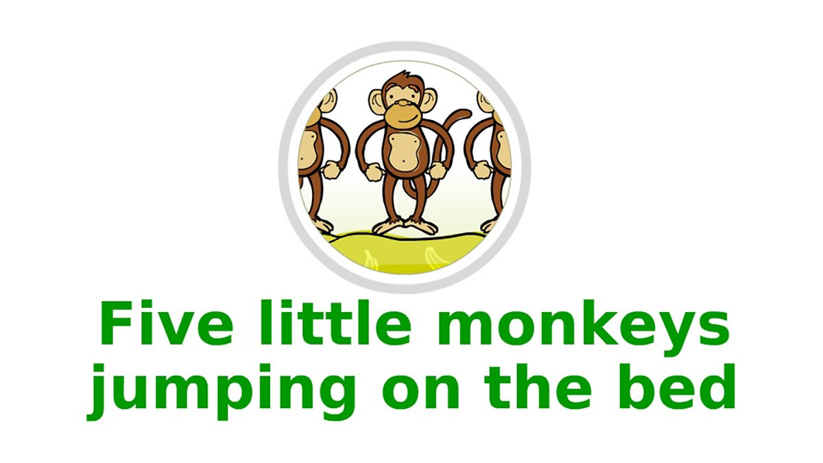 Five Little Monkeys Jumping On The Bed Bbc Teach