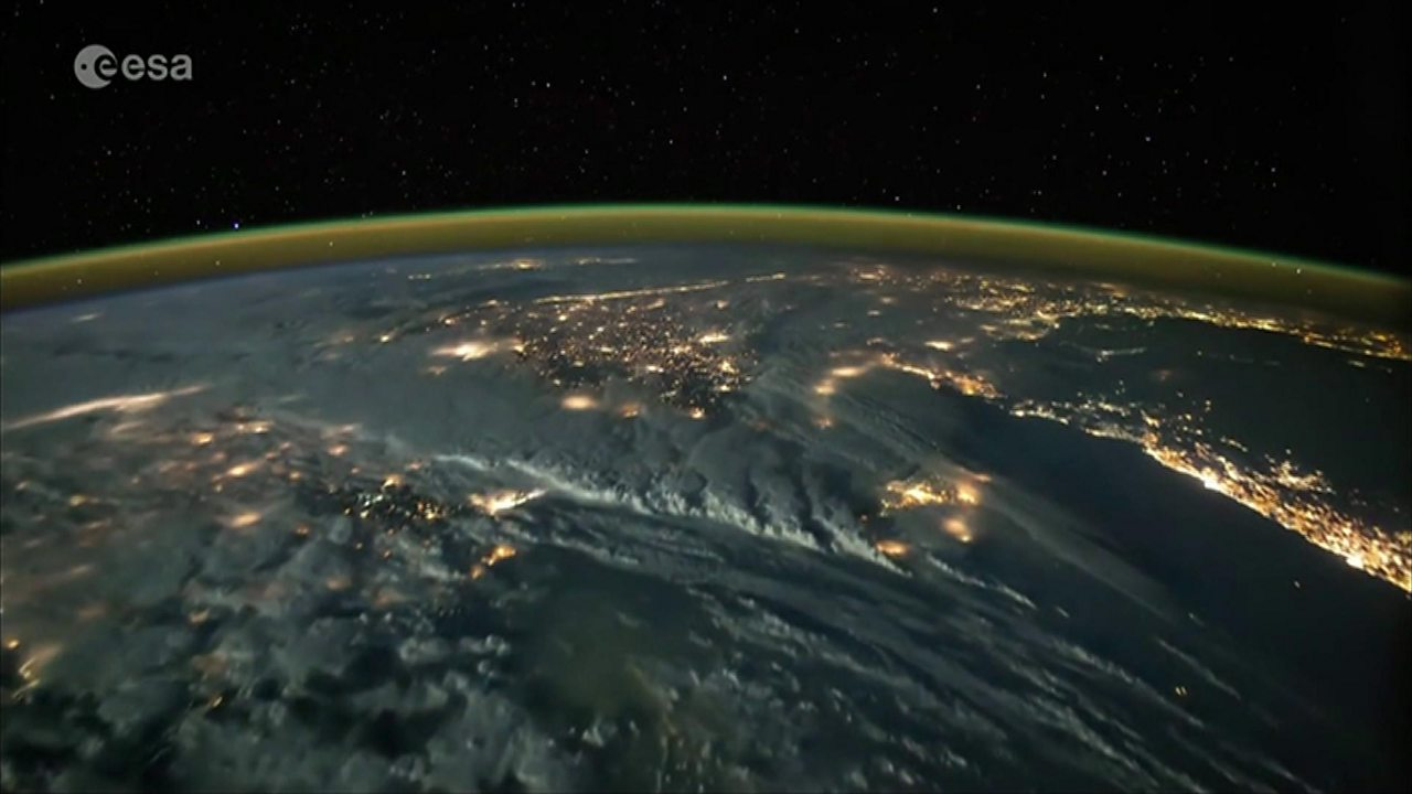 Space timelapse shows lightning storms