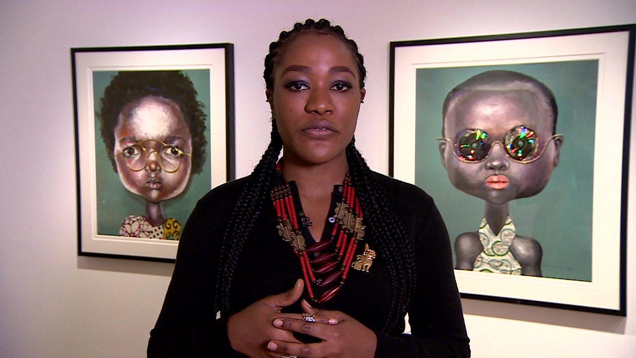 Nigerian artist Emefiele: 'My glasses protect women'