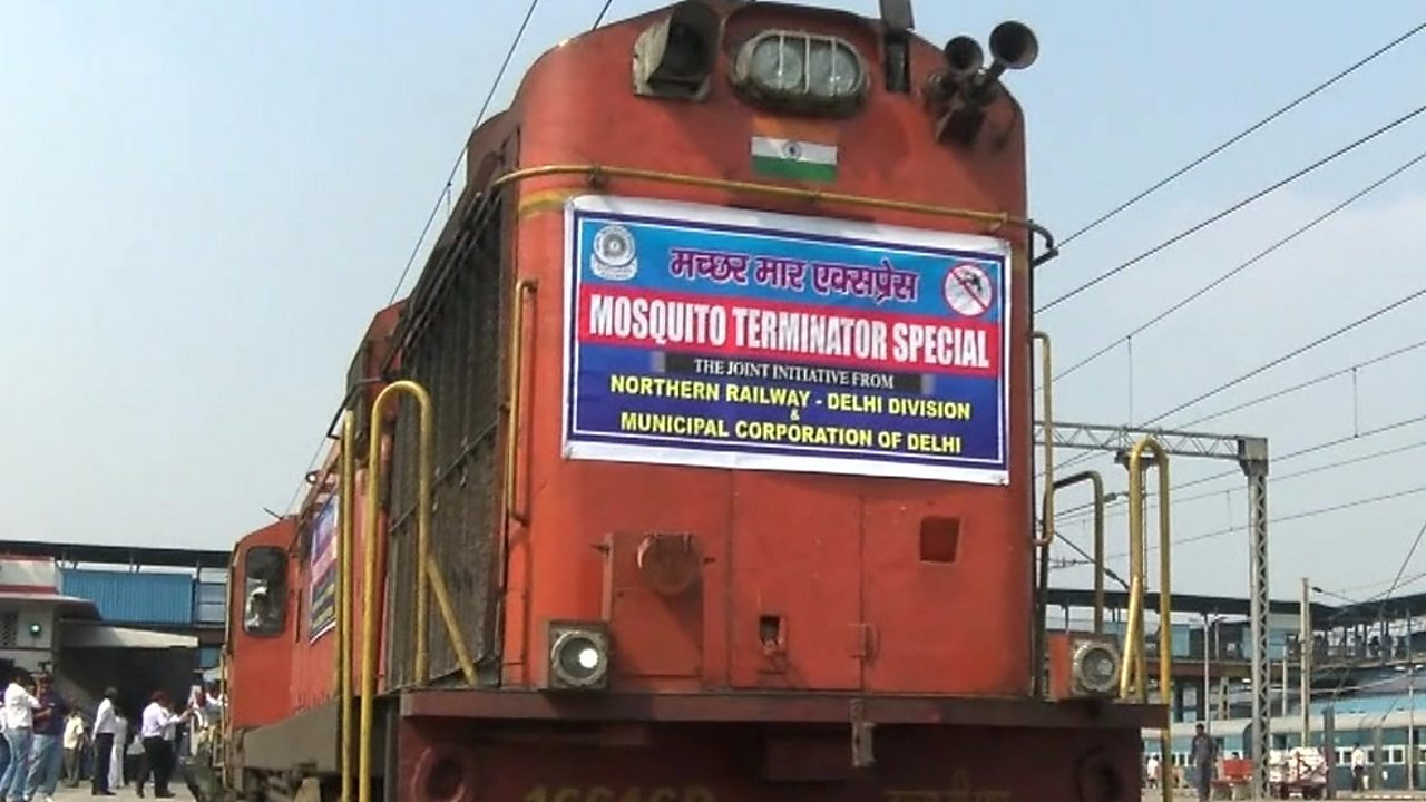 On board India's mosquito-busting train