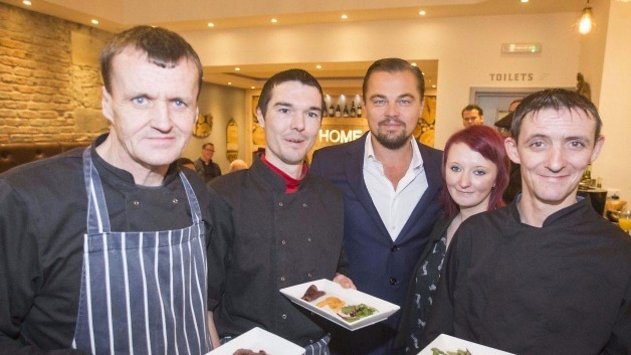 Leonardo DiCaprio visited an Edinburgh restaurant
