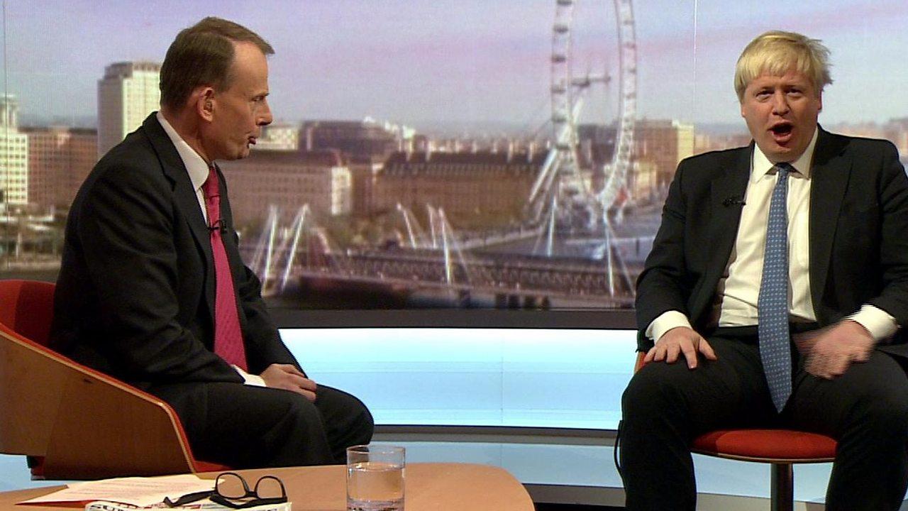 Boris Johnson tells Andrew Marr: 'You've just taken my two best lines'