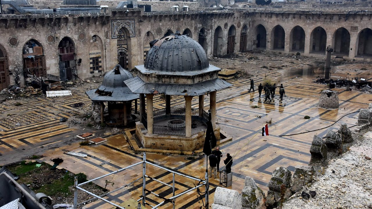 Syrian conflict: What's left of Aleppo's Great Mosque?