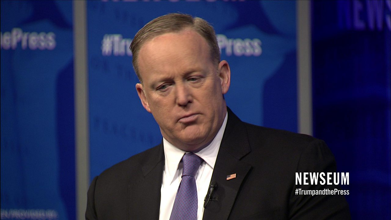 White House spokesman Sean Spicer: 'I screwed up'