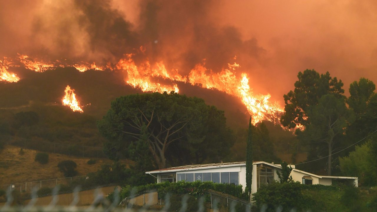 Wildfires sweep areas of California